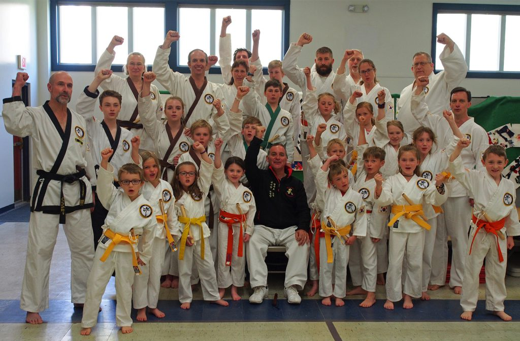 Crouching Lion Tang Soo Do students
