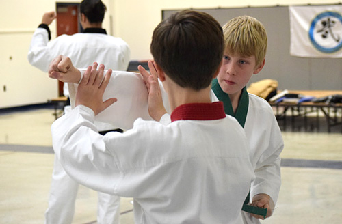 Youth training in Martial Arts at Crouching Lion