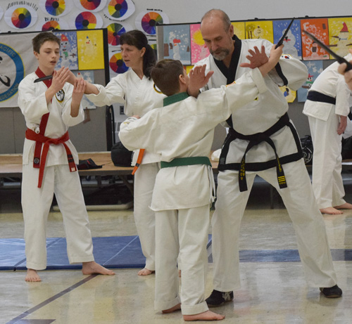 Crouching Lion Tang Soo Do class instruction